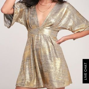 lulu's gold and silver party dress